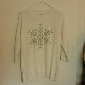 Top with beaded snowflake